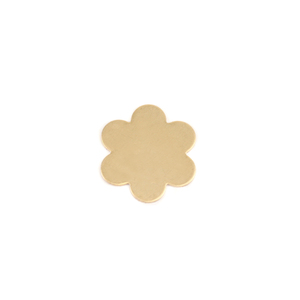 "Metal Stamping Blanks Brass Flower with 6 Petals, 17mm (.67""), 24g"