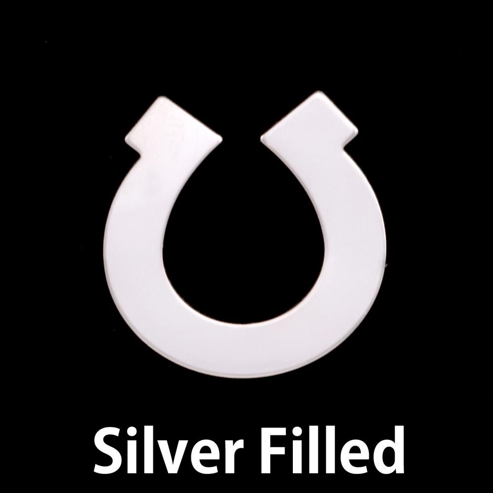 Metal Stamping Blanks Silver Filled Horseshoe, 24g