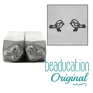 Metal Stamping Tools Love Birds Metal  Design Stamp, 7mm - Beaducation Original
