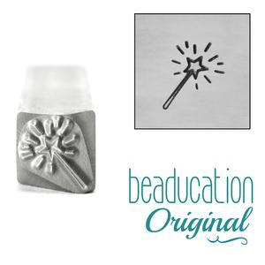 Metal Stamping Tools Magic Wand Metal Design Stamp, 10mm - Beaducation Original