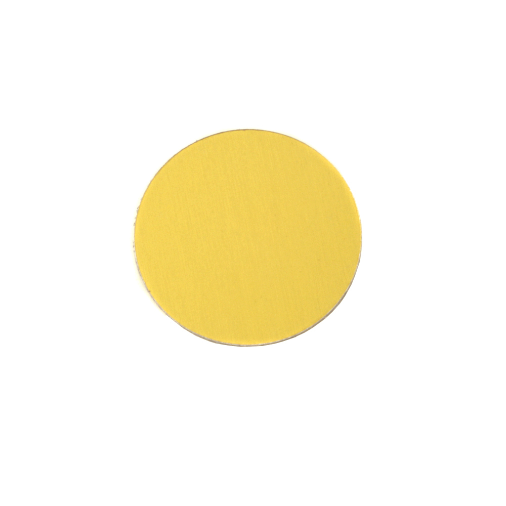 "Metal Stamping Blanks Anodized Aluminum 1/2"" Circle, Yellow, 24g"