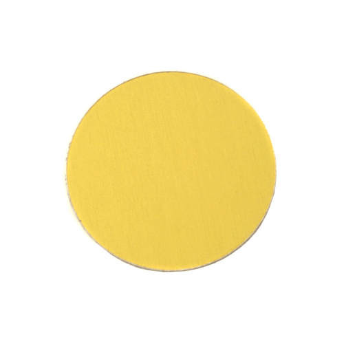 "Metal Stamping Blanks Anodized Aluminum 3/4"" Circle,Yellow, 24g"