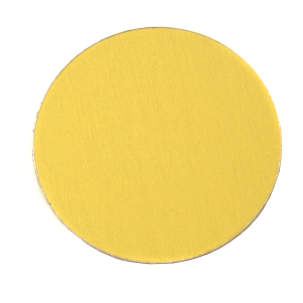 "Metal Stamping Blanks Anodized Aluminum 1"" Circle, Yellow, 24g"