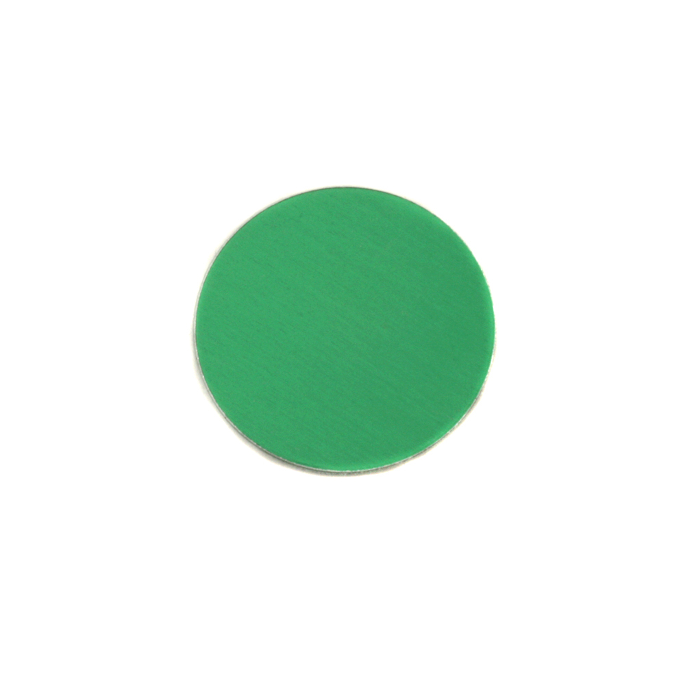 "Metal Stamping Blanks Anodized Aluminum 1/2"" Circle, Kelly Green, 24g"