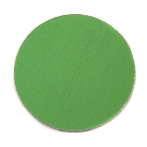 "Metal Stamping Blanks Anodized Aluminum 1"" Circle, Lime Green, 24g"