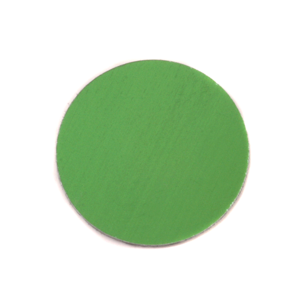 "Metal Stamping Blanks Anodized Aluminum 3/4"" Circle, Lime Green, 24g"