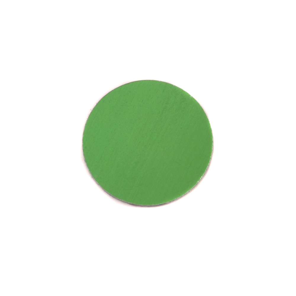 "Metal Stamping Blanks Anodized Aluminum 1/2"" Circle, Lime Green, 24g"