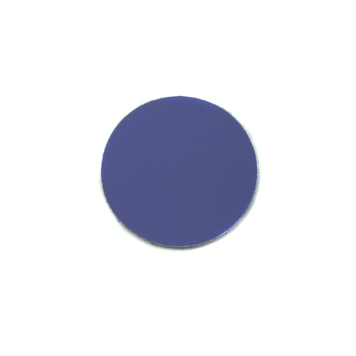 "Metal Stamping Blanks Anodized Aluminum 1/2"" Circle, Royal Blue, 24g"