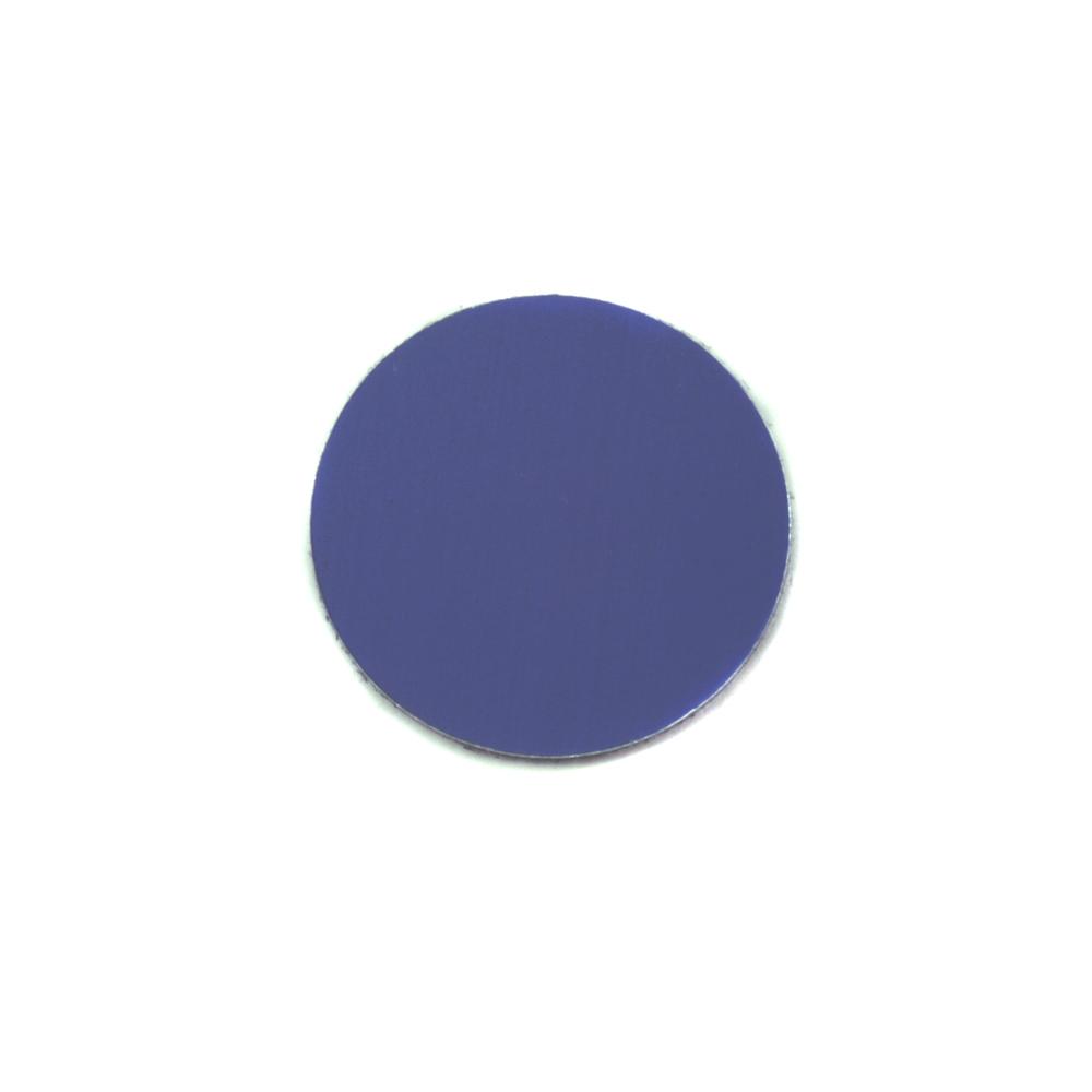 "Metal Stamping Blanks Anodized Aluminum 1/2"" Circle, Royal Blue, 24g"