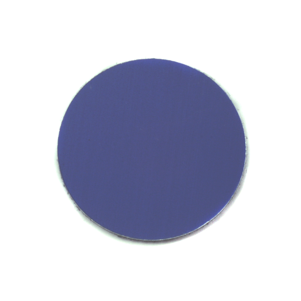 "Metal Stamping Blanks Anodized Aluminum 3/4"" Circle, Royal Blue, 24g"