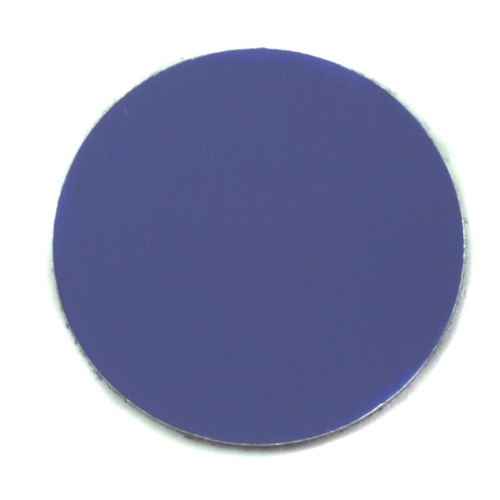 "Metal Stamping Blanks Anodized Aluminum 1"" Circle, Royal Blue, 24g"