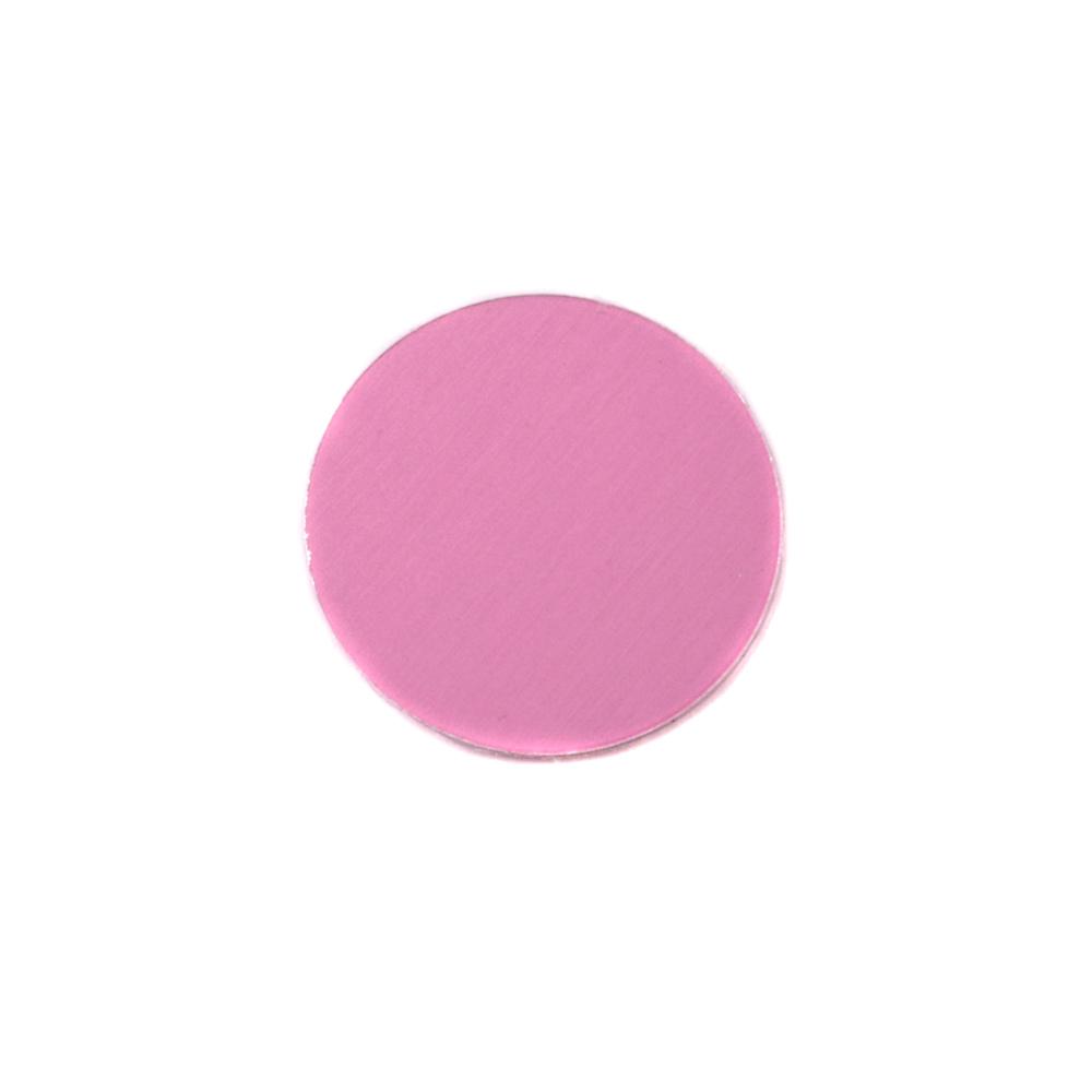 "Metal Stamping Blanks Anodized Aluminum 1/2"" Circle, Pink, 24g"