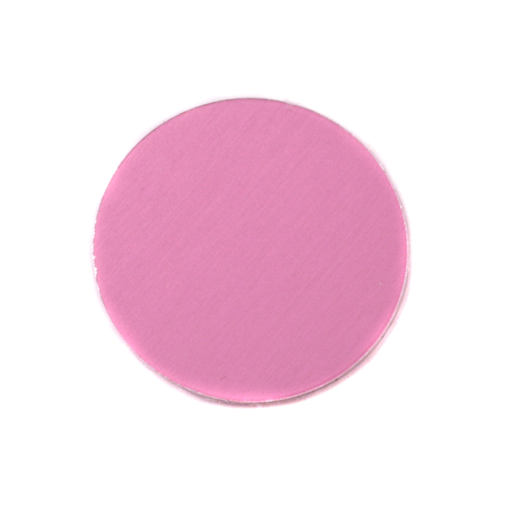 "Metal Stamping Blanks Anodized Aluminum 3/4"" Circle, Pink, 24g"