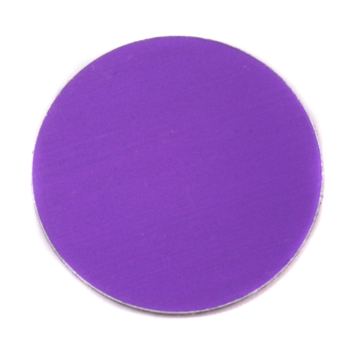 "Metal Stamping Blanks Anodized Aluminum 1"" Circle, Purple, 24g"