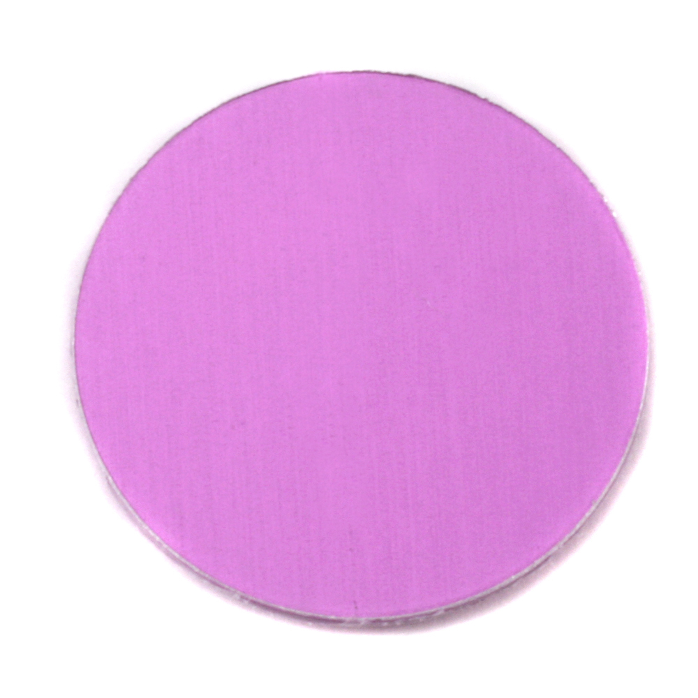 "Metal Stamping Blanks Anodized Aluminum 1"" Circle, Light Magenta, 24g"