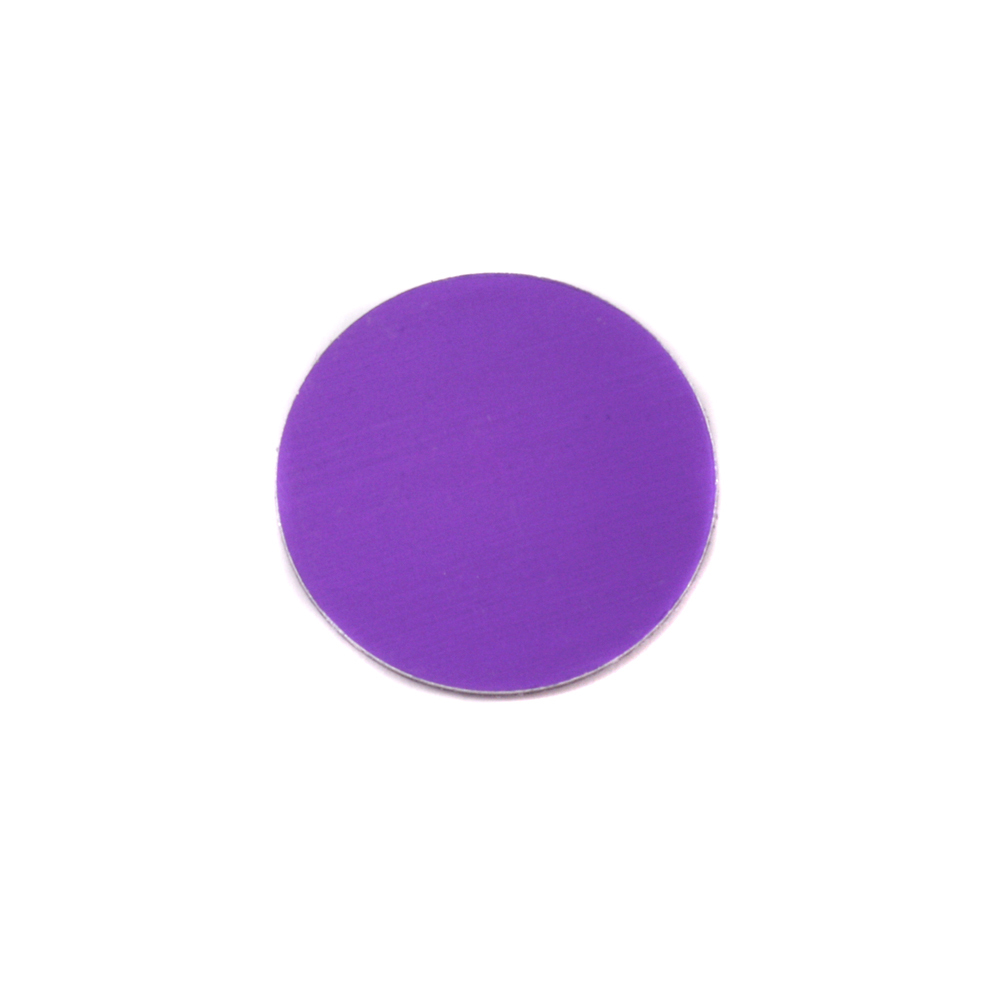 "Metal Stamping Blanks Anodized Aluminum 1/2"" Circle, Purple, 24g"