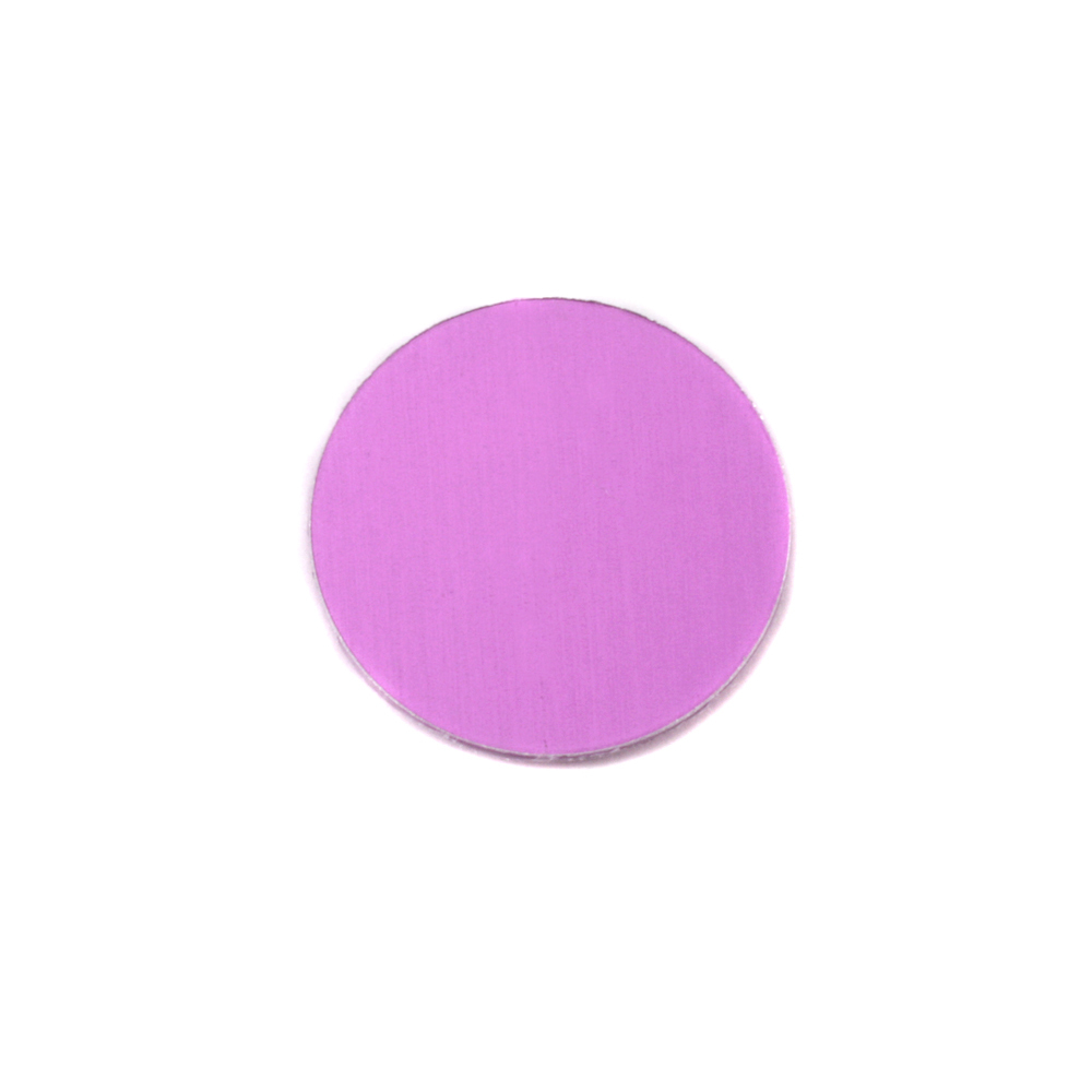 "Metal Stamping Blanks Anodized Aluminum 1/2"" Circle, Light Magenta, 24g"