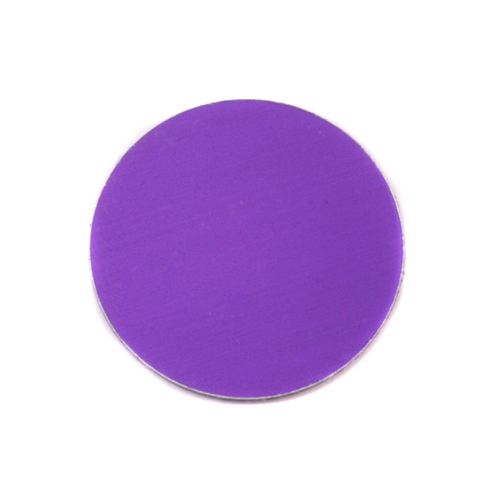 "Metal Stamping Blanks Anodized Aluminum 3/4"" Circle, Purple, 24g"