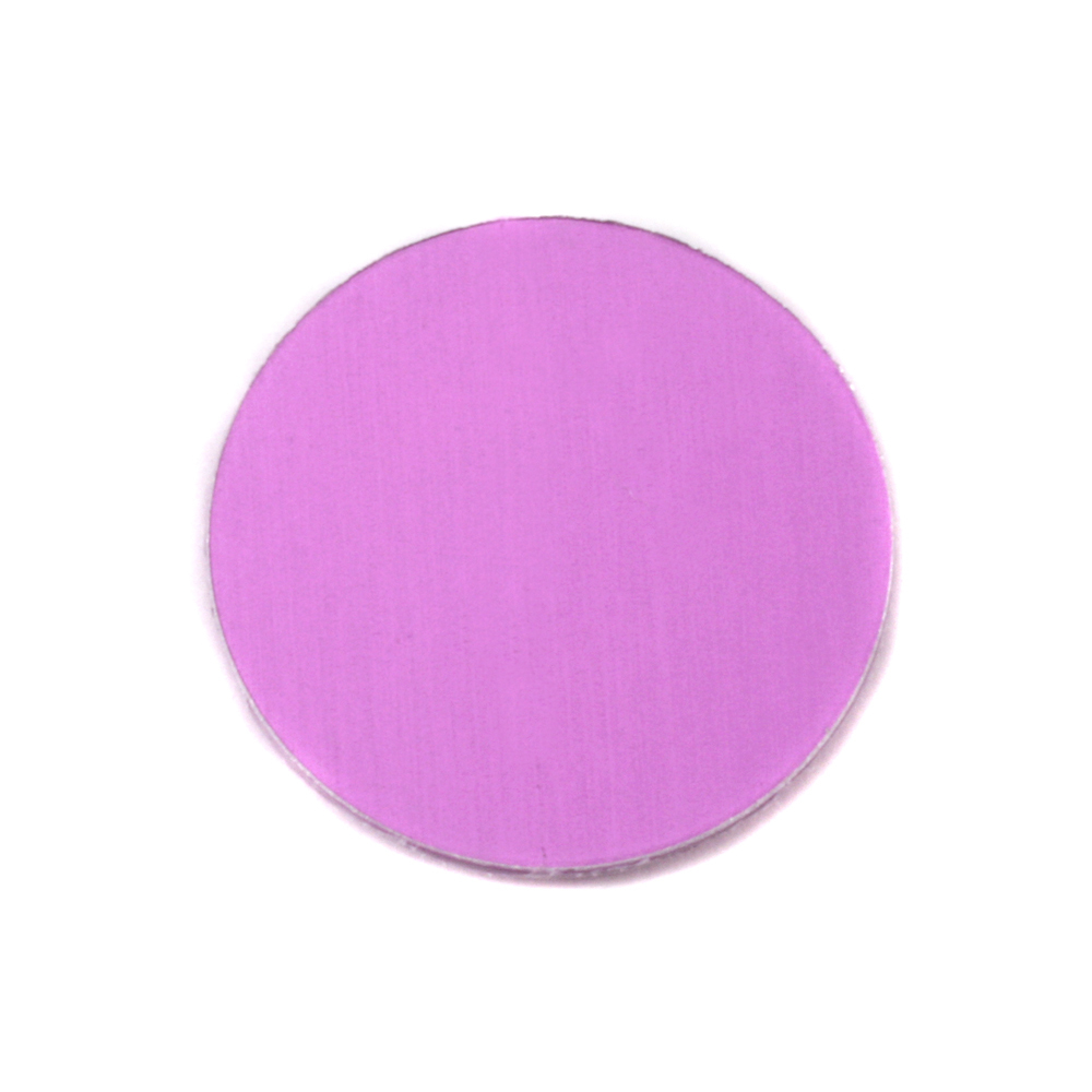 "Metal Stamping Blanks Anodized Aluminum 3/4"" Circle, Light Magenta, 24g"