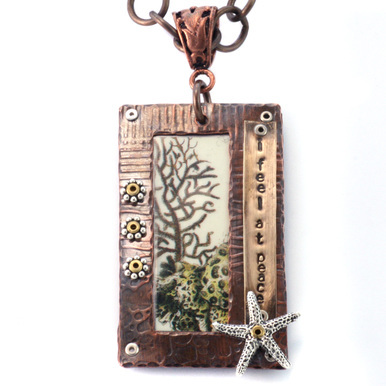 Online Video Classes Frame It, Stamped & Riveted Pendant Online Class w/Tracy Stanley