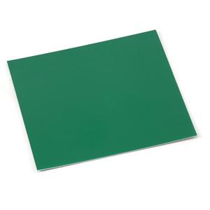 "Wire & Sheet Metal Anodized Aluminum Sheet, 3"" X 3"", 24g, Kelly Green"