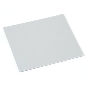 "Sheet Metal Anodized Aluminum Sheet, 3"" X 3"", 24g, Silver"