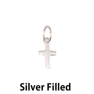 Charms & Solderable Accents Silver Filled Small Cross Charm