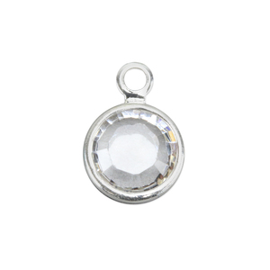 Charms & Solderable Accents Swarovski Crystal Channel Charm (Crystal - APRIL), 6mm Stone, Pack of 8