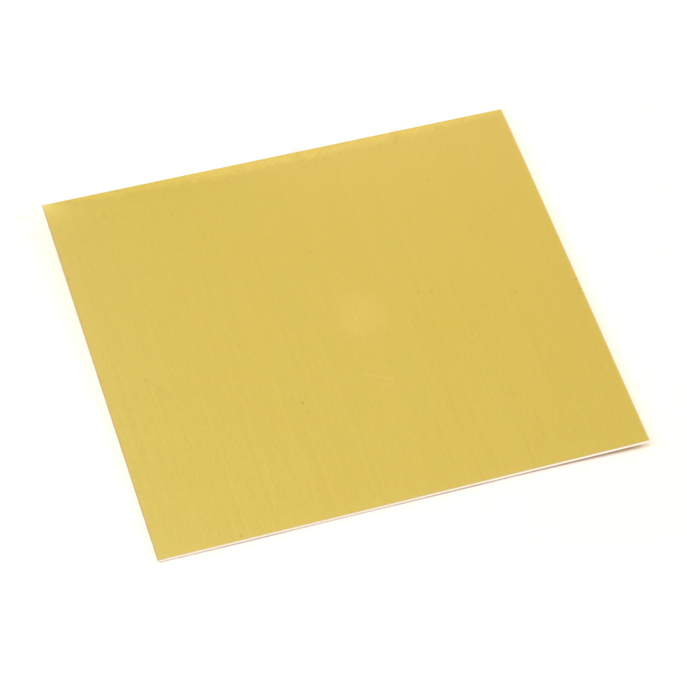 "Wire & Sheet Metal Anodized Aluminum Sheet, 3"" X 3"", 24g, Yellow"