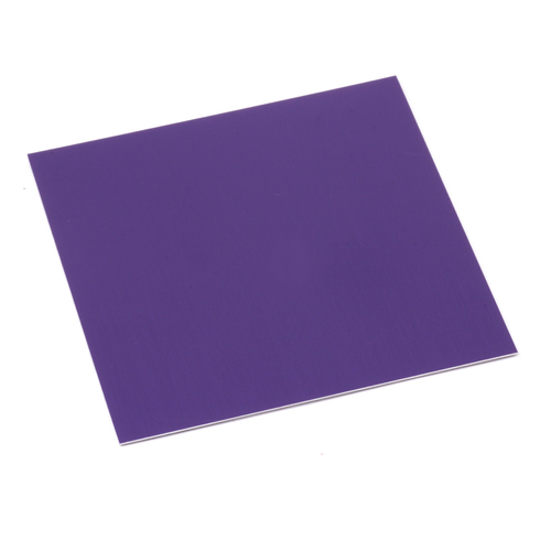 "Sheet Metal Anodized Aluminum Sheet, 3"" X 3"", 24g, Purple"