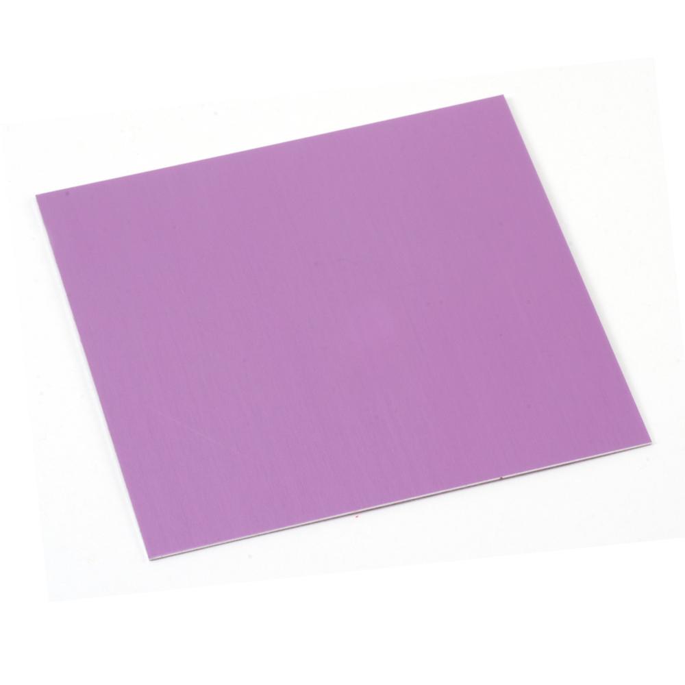 """Wire & Sheet Metal Anodized Aluminum Sheet, 3"""" X 3"""", 24g, Light Magenta"""