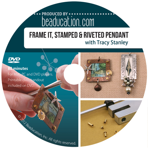 Books Frame It, Stamped & Riveted Pendant DVD with Tracy Stanley