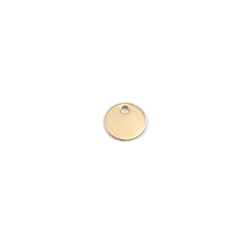 "Metal Stamping Blanks Brass 1/4"" (8mm), 24g Circle with hole"