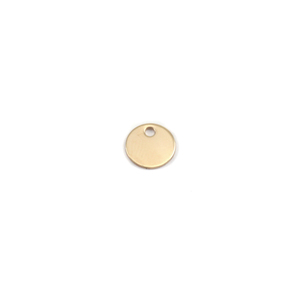 "Metal Stamping Blanks Brass Circle with Hole 8mm (.31""), 24g"