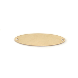 "Metal Stamping Blanks Brass Oval with Holes, 32mm (1.25"") x 9mm (.35""), 24g"