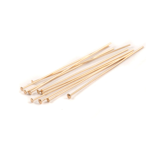"Clasps & Findings Gold Filled Head Pins 1 1/2"" (38mm), 24 gauge pack of 10"