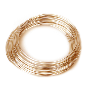 Wire & Sheet Metal 24g Gold Filled, Round, Dead Soft Wire - 1/4 oz (~13.75 ft)