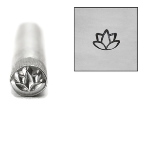 Metal Stamping Tools Lotus Flower Metal Design Stamp, 5mm
