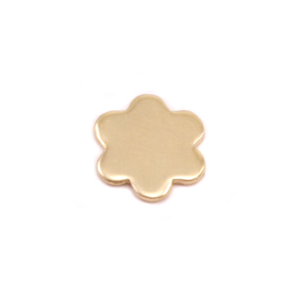 Charms & Solderable Accents Brass Mini Flower with 6 petals Solderable Accent, 24g - Pack of 5