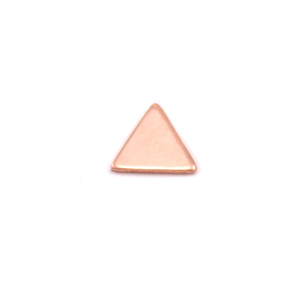 "Charms & Solderable Accents Copper Mini Triangle Solderable Accent, 5.4mm (.21"") x 4.8mm (.18""), 24 Gauge - Pack of 5"