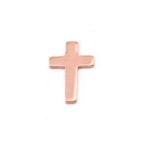 Charms & Solderable Accents Copper Mini Cross Solderable Accent, 24g