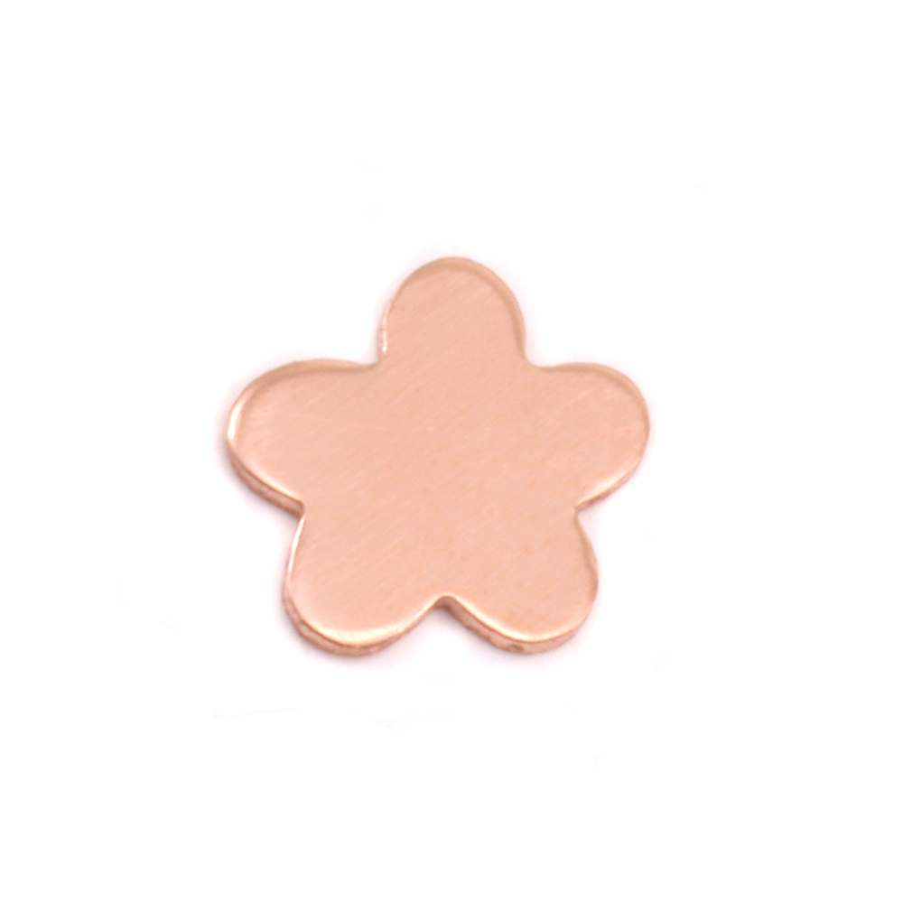 "Charms & Solderable Accents Copper Mini Flower with 5 Petals Solderable Accent, 8.7mm (.34""), 24 Gauge - Pack of 5"