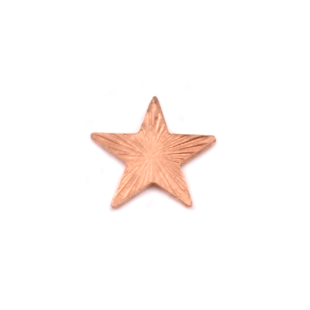 "Charms & Solderable Accents Copper Art Nouveau Star Solderable Accent, 7.5mm (.30""), 24 Gauge - Pack of 5"