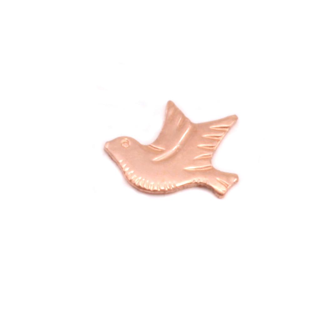 Charms & Solderable Accents Copper Dove Left Facing Solderable Accent, 24g - Pack of 5