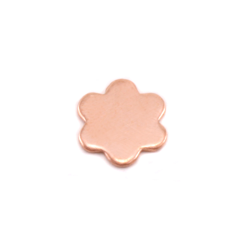 Charms & Solderable Accents Copper Mini Flower with 6 Petals Solderable Accent, 24g