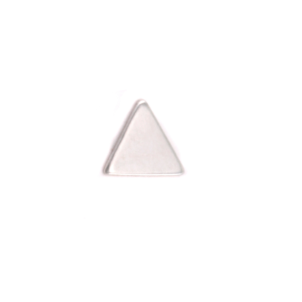 "Charms & Solderable Accents Sterling Silver Mini Triangle Solderable Accent, 5.4mm (.21"") x 4.8mm (.18""), 24g - Pack of 5"