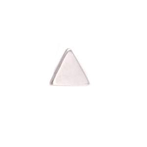 Charms & Solderable Accents Sterling Silver Mini Triangle Solderable Accent, 24g - Pack of 3