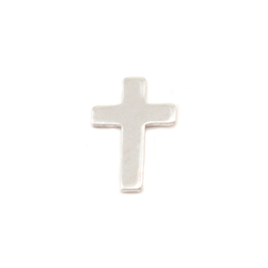 "Charms & Solderable Accents Sterling Silver Mini Cross Solderable Accent, 9mm (.35"") x 6mm (.24""), 24g - Pack of 5"
