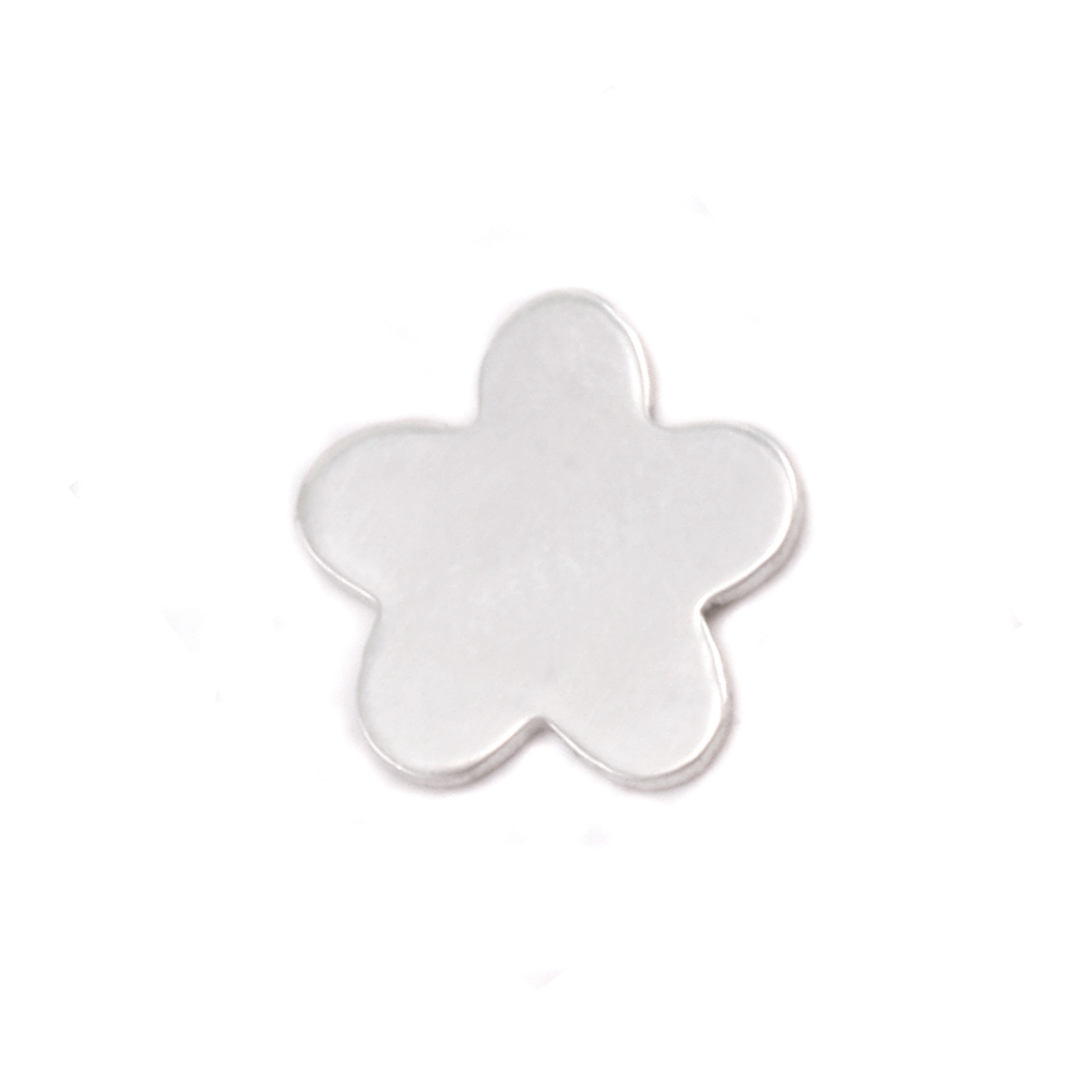 Charms & Solderable Accents Sterling Silver Mini Flower with 5 Petals Solderable Accent, 24g - Pack of 5