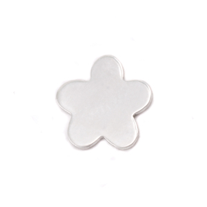 "Charms & Solderable Accents Sterling Silver Mini Flower with 5 Petals Solderable Accent, 8.7mm (.34""), 24g - Pack of 5"